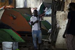 July 24, 2017 - Algiers, Algeria - The African migrant settles under the bridge of a motorway on the outskirts of Algiers, Algeria, July 24, 2017  (Credit Image: © Billal Bensalem/NurPhoto via ZUMA Press)