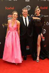 Celebrities arrive on the red carpet for the Australian Academy Cinema Television Arts (AACTA) Awards at The Star, Pyrmont. 05 Dec 2018 Pictured: Emma Leonard, Erik Thomson and Melina Vidler. Photo credit: Richard Milnes / MEGA TheMegaAgency.com +1 888 505 6342