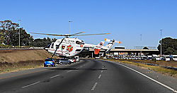 South Africa - Johannesburg - 27 May 2020  M1 taxi accident near Southgate where a taxi driver died and his occupants critically injured and had to be airlifted to the hospital. Photo Simphiwe Mbokazi African NewsAgency