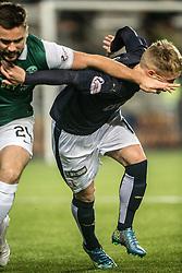 Hibernian's Darren McGregor and Falkirk's Craig Sibbald. Falkirk 0 v 1 Hibernian, Scottish Championship game played 20/10/2015 at The Falkirk Stadium.