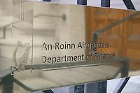 Department of Finance sign, Dublin, Ireland
