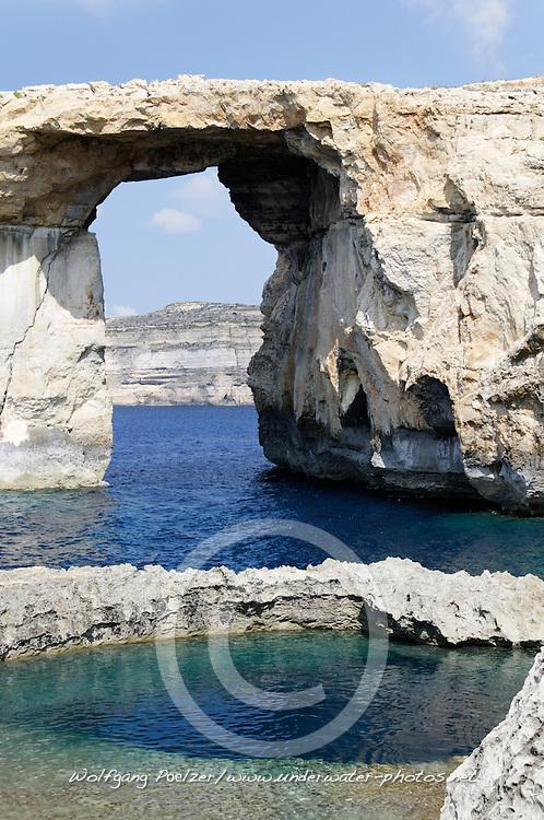 Zerka Tor, Azur Windwow and Blue Hole, Gozo, Malta, Sued Europa, Mittelmeer, Mare Mediterraneum, Sotuh Europe, Mediterranean Sea