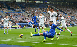 Leicester City's Rachid Ghezzal makes an attempt at goal during the Premier League match at the King Power Stadium, Leicester.