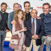 NLD/Amsterdam//20170328 - Uitreiking TV-beelden 2017, Cast tv serie Menten, Hans Knoop en partner