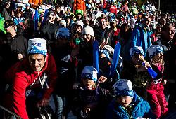 Fans of Zan Kosir (SLO) during Parallel Giant Slalom at FIS Snowboard World Cup Rogla 2017, on January 28, 2017 at Course Jasa, Rogla, Slovenia. Photo by Vid Ponikvar / Sportida