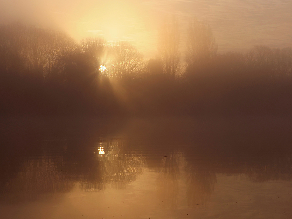 Dawn over Rooksbury Mill, Andover, Hampshire