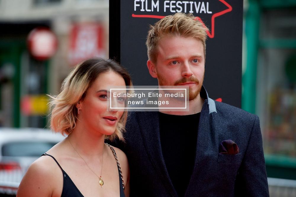 "Jessica Brown Findlay and Jack Lowden, on the red carpet at the Edinburgh International Film Festival world Premier of ""England is Mine"" at Edinburgh's Festival Theatre. Sunday, 2nd July, 2017(c) Brian Anderson   Edinburgh Elite media"