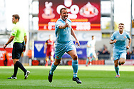 Sunderland midfielder Lee Cattermole (6) celebrates his shot deflected in by Sunderland forward Josh Maja (20) to score a goal and make the score 0-1 during the EFL Sky Bet League 1 match between Bradford City and Sunderland at the Northern Commercials Stadium, Bradford, England on 6 October 2018.