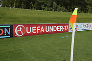 Uefa advertising board pitch side during the UEFA European Under 17 Championship 2018 match between Bosnia and Republic of Ireland at Stadion Bilino Polje, Zenica, Bosnia and Herzegovina on 11 May 2018. Picture by Mick Haynes.