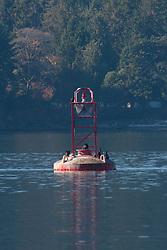 Navigational Buoy in Swanson Channel, Gulf Islands, British Columbia, Canada