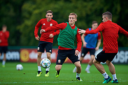 CARDIFF, WALES - Monday, September 3, 2018: Wales' Matthew Smith during a training session at the Vale Resort ahead of the UEFA Nations League Group Stage League B Group 4 match between Wales and Republic of Ireland. (Pic by David Rawcliffe/Propaganda)