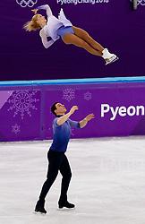 February 15, 2018 - Gangneung, South Korea - ALJONA SAVCHENKO and BRUNO MASSOT of Germany win the gold medal the Pairs Figure Skating Free Skating at the PyeongChang 2018 Winter Olympic Games at Gangneung Ice Arena. (Credit Image: © Paul Kitagaki Jr. via ZUMA Wire)