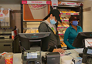 Dunkin Donut servers during 2020 pandemic, Easton, Lehigh County, PA
