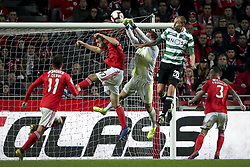 February 7, 2019 - Na - Lisbon, 06/02/2019 - SL Benfica received Sporting CP tonight at the Est√°dio da Luz stadium in the first leg of the Portuguese Cup 2018/19 semi-final. Francisco Ferreira ''Ferro;, Mil, Mile Svilar, Bas Dost  (Credit Image: © Atlantico Press via ZUMA Wire)