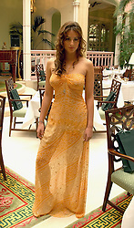 SASKIA BOXFORD at a fashion show of Sybil Stanislaus Summer 2005 collection with jewellery by Philippa Holland held at The Lanesborough Hotel, Hyde Park Corner, London on 13th April 2005.<br /><br />NON EXCLUSIVE - WORLD RIGHTS
