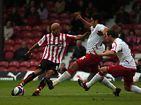Photo: Tony Oudot.<br /> Brentford v Lincoln City. Coca Cola League 2. 27/10/2007.<br /> Lee Thorpe of Brentford gets in a shot