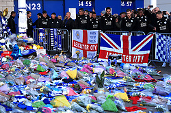 Leicester players pay respects to club chairman Vichai Srivaddhanaprabha, who was among those to have tragically lost their lives on Saturday evening when a helicopter carrying him and four other people crashed outside King Power Stadium.