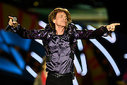 Nicolas Celaya/ URUGUAY/ MONTEVIDEO/ ESTADIO CENTENARIO<br /> En la foto, Mick Jagger durante el concierto de la banda inglesa The Rolling Stones por primera vez en el Estadio Centenario. Nicolás Celaya /adhocFotos<br /> 2016 - 16 de febrero - martes