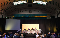 A general view during the press conference at York Hall, London.