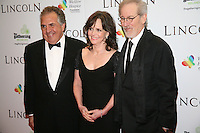 Jim Giamopulos, Sally Field and Steven Spielberg at the Lincoln film premiere Savoy Cinema in Dublin, Ireland. Sunday 20th January 2013.