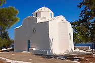 The Byzantine church of Ayios Nikolaos Moulos, Krypseli, Aegina, Greek Saronic Islands ..<br /> <br /> If you prefer to buy from our ALAMY PHOTO LIBRARY  Collection visit : https://www.alamy.com/portfolio/paul-williams-funkystock/aegina-greece.html <br /> <br /> Visit our GREECE PHOTO COLLECTIONS for more photos to download or buy as wall art prints https://funkystock.photoshelter.com/gallery-collection/Pictures-Images-of-Greece-Photos-of-Greek-Historic-Landmark-Sites/C0000w6e8OkknEb8