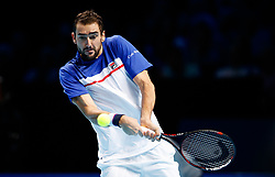 Marin Cilic during his match agains Jack Sock during day three of the NITTO ATP World Tour Finals at the O2 Arena, London.