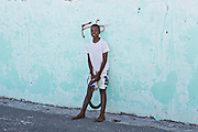 Bahamian boy in Dunmore Town, Harbour Island, The Bahamas