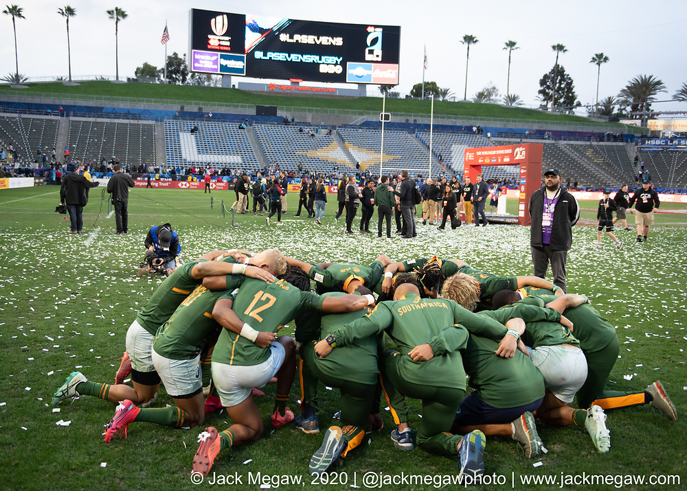 M45 - South Africa and Fiji compete in the Cup Final of the 2020 Los Angeles Sevens at Dignity Sports Health Park in Los Angeles, California. March 1, 2019. <br /> <br /> © Jack Megaw, 2020