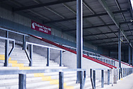 A banner in tribute of Graham Taylor OBE proudly displayed behind one of the goals at Glanford Park before the EFL Sky Bet League 1 match between Scunthorpe United and Coventry City at Glanford Park, Scunthorpe, England on 5 January 2019.