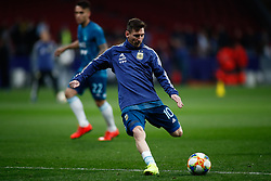 March 22, 2019 - Madrid, MADRID, SPAIN - Leo Messi of Argentina during the international friendly football match played between Argentina and Venezuela at Wanda Metropolitano Stadium in Madrid, Spain, on March 22, 2019. (Credit Image: © AFP7 via ZUMA Wire)