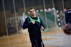 Matjaz Brumen at Open training session for the public of Slovenian handball National Men team before European Championships Austria 2010, on December 27, 2009, in Terme Olimia, Podcetrtek, Slovenia.  (Photo by Vid Ponikvar / Sportida)