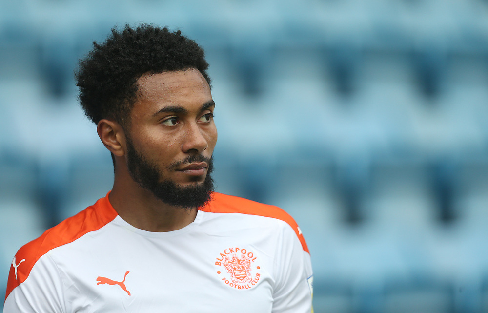 Blackpool's Grant Ward<br /> <br /> Photographer Rob Newell/CameraSport<br /> <br /> The EFL Sky Bet League One - Gillingham v Blackpool - Saturday 26th September 2020 - Priestfield Stadium - Gillingham<br /> <br /> World Copyright © 2020 CameraSport. All rights reserved. 43 Linden Ave. Countesthorpe. Leicester. England. LE8 5PG - Tel: +44 (0) 116 277 4147 - admin@camerasport.com - www.camerasport.com
