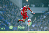 Martin Skrtel of Liverpool in action. Barclays Premier League match, Everton v Liverpool at Goodison Park in Liverpool on Sunday 4th October 2015.<br /> pic by Chris Stading, Andrew Orchard sports photography.