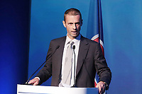 12th extraordinary UEFA Congress Athens 2016 the newly elected President the UEFA Aleksander Ceferin Slovenia in Portrait at Lectern Athens 2016 <br /> Norway only