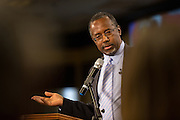 Dr. Ben Carson addresses the South Carolina Tea Party Coalition convention on January 18, 2015 in Myrtle Beach, South Carolina. A variety of conservative presidential hopefuls spoke at the gathering on the third day of a three day event.