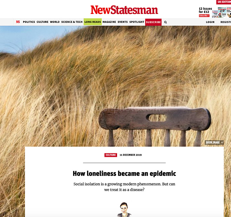 New Statesman: How loneliness became an epidemic
