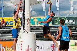 Jure Peter Bedrac (OK beach volley Ptuj) vs Kresmir Peric (CRO) at Beachmaster 2011 tournament for Slovenian BeachTour on July 22, 2011, in Ptuj, Slovenia. (Photo by Matic Klansek Velej / Sportida)