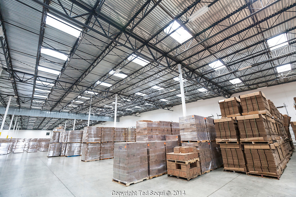 The 68,000 square foot Huy Fong Foods, Inc. Sriracha hot chili sauce plant in Irwindale, CA. <br /> The Asian style Sriracha hot chili sauce is quickly becoming a favorite food condiment around the world. Production of the sauce has some of the plant's neighbors complaining about foul odors emitting from the plant. Sriracha is produced only in Irwindale and is made from California produce. When the founder of Huy Fong Foods, David Tran, immigrated to the U.S. from Viet Nam, he named the company after the ship that carried him over.