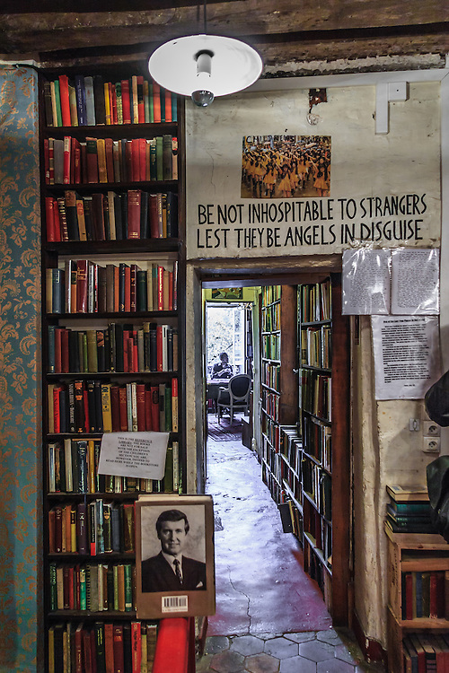 Shakespeare and Company bookstore in Paris, France. Whitman allowed young travelers to stay in the residential quarters of his rue de la Bûcherie premises, and one was also encouraged to read a book a day during one's stay and were asked for two hours work as a contribution to the running of the shop.