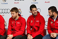 Isco participates and receives new Audi during the presentation of Real Madrid's new cars made by Audi in Madrid. December 01, 2014. (ALTERPHOTOS/Caro Marin)