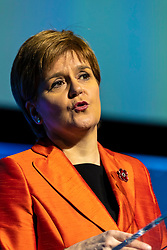 """The First Minister of Scotland, Nicola Sturgeon, addresses the Global Grand Final of the world's largest green ideas competition, hosted in Scotland for the first time by the Edinburgh Centre for Carbon Innovation on Friday 2 November 2018.<br /> <br /> The First Minister of Scotland, said """"With world-leading emissions targets and a long and proud history of innovation, Scotland punches above its weight when it comes to climate action."""""""