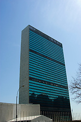 New York City, New York: UN Building  .Photo #: ny303-15034..Photo copyright Lee Foster, www.fostertravel.com, lee@fostertravel.com, 510-549-2202.