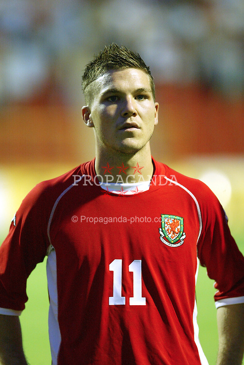NOVI SAD, SERBIA -Tuesday, August 19th, 2003: Wales' Kevin Gall before the UEFA Under 21 European Championship Group 9 Qualifying match against Serbia & Montenegro at the Karadorde Stadium. (Pic by David Rawcliffe/Propaganda)