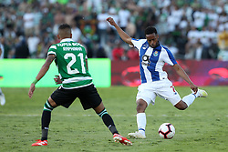 May 25, 2019 - Oeiras, Portugal - OEIRAS, PORTUGAL - MAY 25: Porto's Portuguese forward Hernani (R ) vies with Sporting's forward Raphinha from Brazil during the Portugal Cup Final football match Sporting CP vs FC Porto at Jamor stadium, on May 25, 2019, in Oeiras, outskirts of Lisbon, Portugal. (Credit Image: © Pedro Fiuza/NurPhoto via ZUMA Press)
