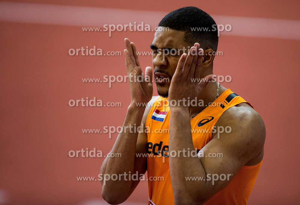 Terrence Agard of Netherlands competes in the Men's 400 metres heats on day one of the 2017 European Athletics Indoor Championships at the Kombank Arena on March 3, 2017 in Belgrade, Serbia. Photo by Vid Ponikvar / Sportida