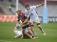 Rugby Union - 2020 / 2021 Gallagher Premiership - Round 14 - Harlequins vs Gloucester - The Stoop<br /> <br /> Tyrone Green of Quins and Ethan Hunt of Gloucester making his debut<br /> <br /> <br /> Credit : COLORSPORT/ANDREW COWIE