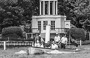 """Henley. Berks, United Kingdom. <br /> <br /> """"Umpires Steam Launch"""", """"Consulta"""" Umpire in the Stern and full company of crew, during the 2017 Henley' Women's Regatta. Rowing on, Henley Reach. River Thames. <br /> <br /> <br /> Saturday  17/06/2017<br /> <br /> <br /> [Mandatory Credit Peter SPURRIER/Intersport Images]"""