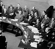 The first session of the United Nations General Assembly opened on 10 January 1946 at Central Hall in London, United Kingdom. It was during this session that the Security Council met for the first time. A view of Central Hall during the proceedings of the Security Council. From left to right are: N.J.O. Makin (Australia); Mar. de Freitas Valle (Brazil); Wellington Koo (China); Badawi Pasha (Egypt); Vincent Auriol (France); Mar. de Rozenweig Diaz (Mexico); and Mar. Van Kleffens (Netherlands).