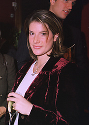 The HON.SELINA TOLLEMACHE daughter of Lord Tollemache,  at an exhibition in London on 12th November 1997.MDF 68 WORO