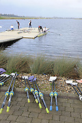 Eton, GREAT BRITAIN,  GV, General View, GB Trials 3rd Winter assessment at,  Eton Rowing Centre, venue for the 2012 Olympic Rowing Regatta, Trials cut short due to weather conditions forecast for the second day Saturday  12/02/2011   [Photo, Peter Spurrier/Intersport-images]